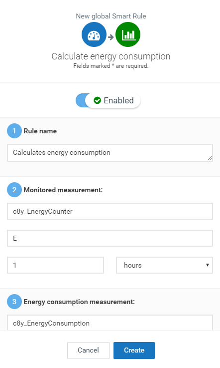 Calculate energy consumption